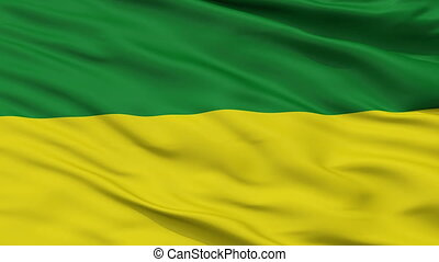 Closeup San Marcos city flag, Colombia - San Marcos closeup...