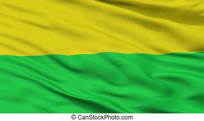 Closeup San Onofre city flag, Colombia - San Onofre closeup...