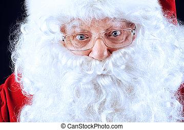closeup Santa face