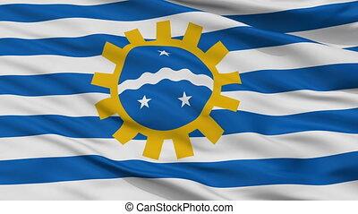Closeup Sao Jose dos Campos city flag, Brasil - Sao Jose dos...