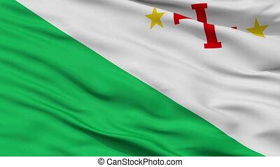 Sara Province closeup flag, Bolivia, realistic animation seamless loop - 10 seconds long
