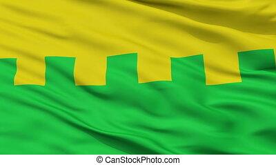 Closeup Saue city flag, Estonia - Saue closeup flag, city of...