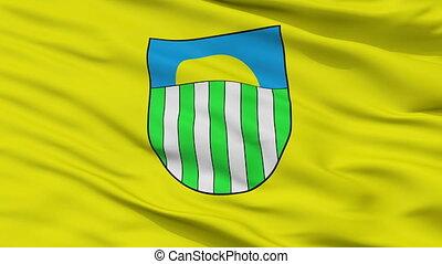 Closeup Saulkrasti city flag, Latvia - Saulkrasti closeup...