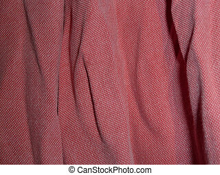 red cotton shirt