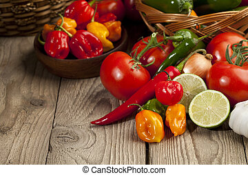 mexican herbs and vegetables