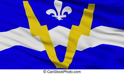 Closeup Shawinigan city flag, Canada - Shawinigan closeup...
