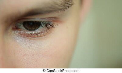 Closeup Shot Of Boy Eye
