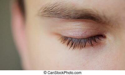 Closeup Shot Of Boy Eye