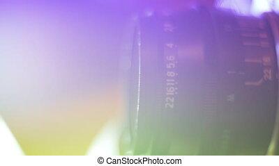 Closeup Shot Of Lens Of Vintage Film Camera