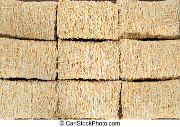 closeup shredded wheat cereal background