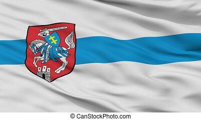 Closeup Siedlce city flag, Poland - Siedlce closeup flag,...