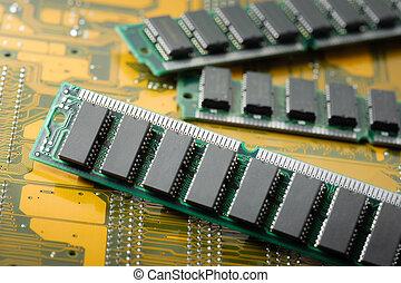 RAM - closeup SIMM 72-pin RAM