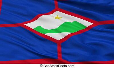 Closeup Sint Eustatius city flag, Netherlands - Sint...