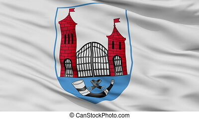 Closeup Skidal city flag, Belarus - Skidal closeup flag,...