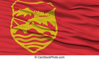 Closeup Skopje City Flag, Macedonia - Closeup Skopje City ...