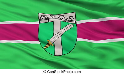 Closeup Skrunda city flag, Latvia - Skrunda closeup flag,...