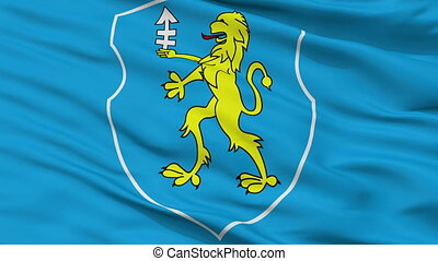 Closeup Slonim city flag, Belarus - Slonim closeup flag,...