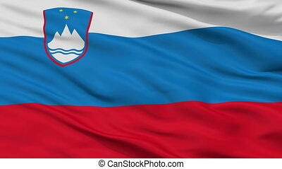 Closeup Slovenia city flag, Slovenia - Slovenia closeup flag...