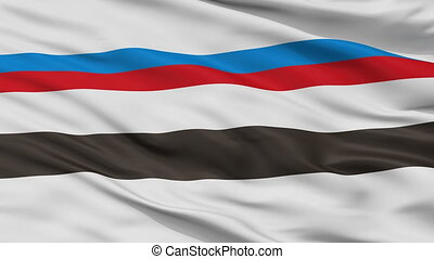 Closeup Smarhon city flag, Belarus - Smarhon closeup flag,...
