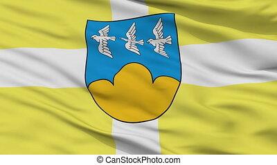 Closeup Smiltene city flag, Latvia - Smiltene closeup flag,...