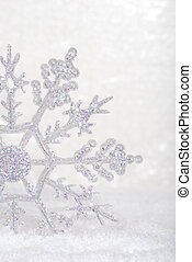 closeup snowflake closeup