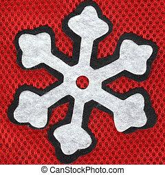 Closeup snowflake
