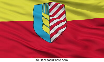 Closeup Soligorsk city flag, Belarus - Soligorsk closeup...