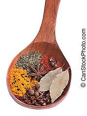 Closeup spice mix