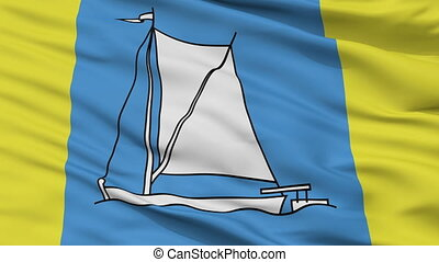 Closeup Stoubcy city flag, Belarus - Stoubcy closeup flag,...