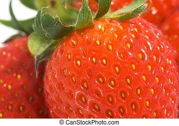 closeup, strawberies