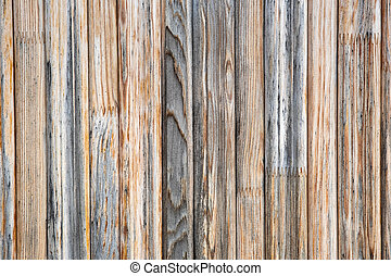 Closeup surface of old weathered wooden boards.