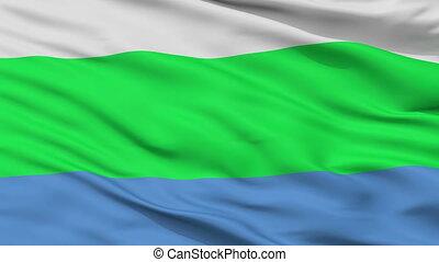 Closeup Tamsalu city flag, Estonia - Tamsalu closeup flag,...