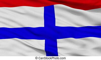 Closeup Targu Secuiesc city flag, Romania - Targu Secuiesc...