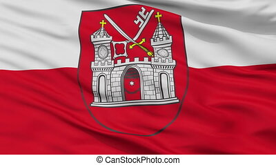 Closeup Tartu city flag, Estonia - Tartu closeup flag, city...