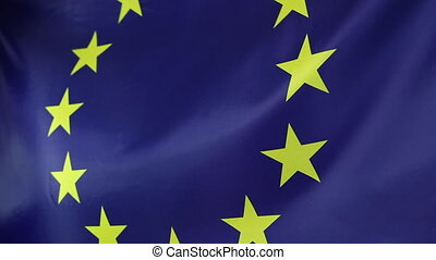Closeup textile European Union flag - Closeup of a textile...