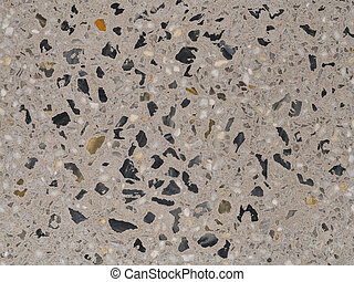 Closeup texture of terrazzo with marble