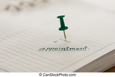 appointment - closeup the words appointment written on a...