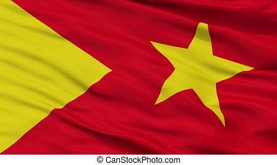 Closeup Tigray Region city flag, Ethiopia - Tigray Region...