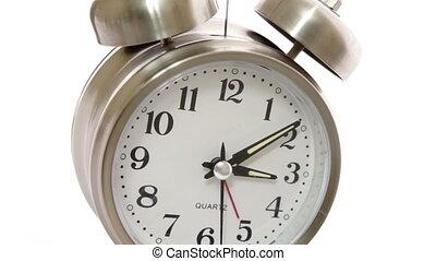 closeup, timelapse, hoek, klok