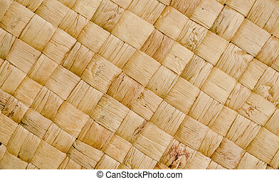 closeup to texture of handmade box from water hyacinth