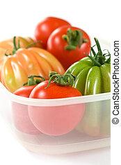 closeup, tomates
