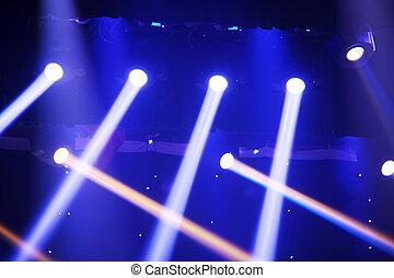 closeup, toneel, verlichting, donker, effect, foto