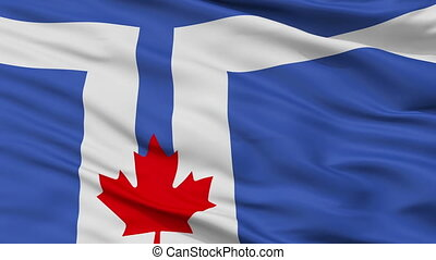 Closeup Toronto city flag, Canada - Toronto closeup flag,...
