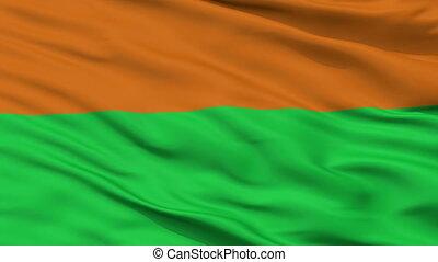 Closeup Torva city flag, Estonia - Torva closeup flag, city...