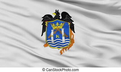 Closeup Trujillo city flag, Peru - Trujillo closeup flag,...