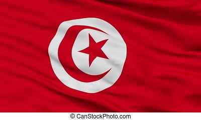 Closeup Tunisia city flag, Tunisia - Tunisia closeup flag,...