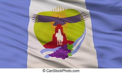 Closeup Tunuyan city flag, Argentina
