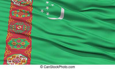Closeup Turkmenistan Flag