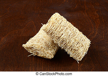 closeup two shredded wheat cereal
