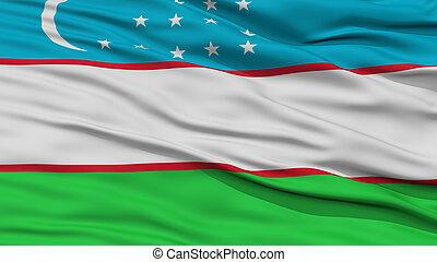 closeup, uzbekistan vlag
